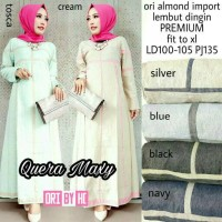 dress maxy quera - dress gamis ori almond import - dress cantik
