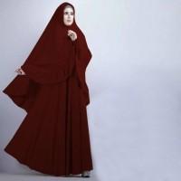 [Syari Soraya Maron CL] baju muslim wanita jersey hitam