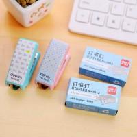 TERMURAH - Deli Mini Stapler 24-6 - Stapless Straples Staples Kertas