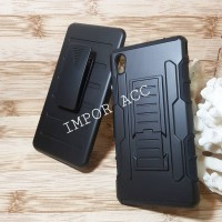 Heavy Duty Armor Holster Stand Case Cover Sony Xperia M4 & M4 Aqua