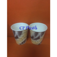 Paper Cup | Gelas Kertas Motif Coffee Time Uk. 8 oz (isi +/- 50 pcs)