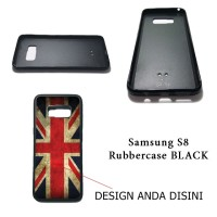 Samsung Galaxy S8 Rubbercase Black - Custom Case HP