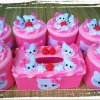 Set Toples Hias Hello Kitty/Toples Lebaran/Toples Flanel