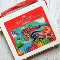 krayon Crayon FABER CASTELL crayon Oil Pastel 60 warna plastic bags