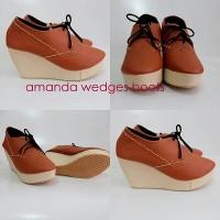 Jual Termurah Sepatu Wanita Wedges Boots Amanda Murah