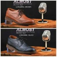 JUAL Sepatu kerja pantofel pria bertali kulit