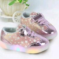 Sepatu LED Star Prepet KCL / Sepatu Anak Perempuan