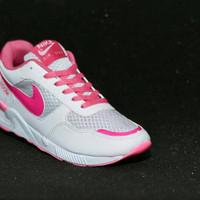 Sepatu Nike Air Zoom Wanita/ Warna Putih Pink/ Olahraga Lari/ Sporty
