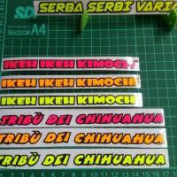 sticker tribu dei dan ikeh kimochi