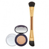 TARTE colored clay concealer & finishing powder + brush