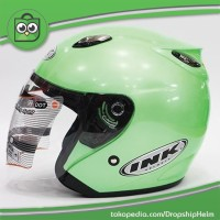 Jual Promo Hot Helm Best 1 Hijau Model INK Centro Bkn KYT/BOGO/Retro Murah