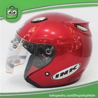 Jual Promo Hot Helm Best 1 Marun Model INK Centro Bkn KYT/BOGO/Retro Murah