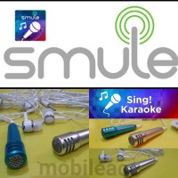 headset smule, mini mic karaoke smule, earphone with microphone