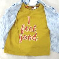 Baju Bayi - Pumpkin Patch - Blue Bell Mock Tee Short Sleeve Shirt