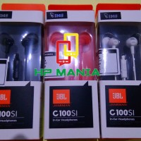 HEADSET EARPHONE HANDSFREE HEADPHONE JBL C100SI IN EAR ASLI ORIGINAL