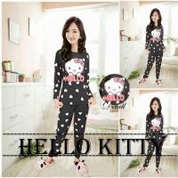 Setelan Baju Tidur Remaja Lengan Panjang-Piyama Hello Kitty