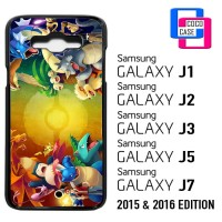 Samsung Galaxy J1,J2,J3,J5,J7 2015 & 2016 Pokemon trainers red vs blue