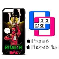 Casing  iPhone 6 & 6 Plus Hulk vs Deadpool  X4655