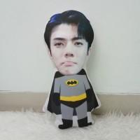 Bantal Boneka Foto Karikatur Custom - Small Batman (35 cm)