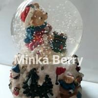 Jual Snow Globe Bear Santa Christmas Bola Salju Kaca Natal Besar Toy Murah