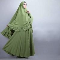 [Syari Soraya Alpukat Cl] baju muslim wanita jersey hijau