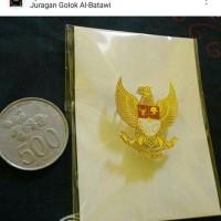 Pin Bross Wing GARUDA PANCASILA logam warna emas