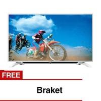 Free Bracket Led Tv Sharp 32 Putih Lc-32le185i-wh Usb Movie 32le185