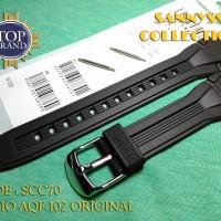 STRAP TALI JAM CASIO AQF-102W - AQF 102W - AQF102W ORIGINAL FREE PEN