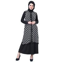 691SHJ, gamis/baju/dress casual/resmi muslimah wanita/cewek