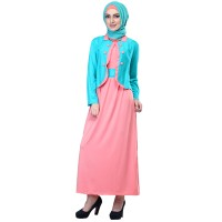 697SPX, gamis/baju/dress spandek casual/resmi muslimah wanita/cewek