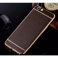 CASE OPPO F3 f3 A77 LUXURY LEATHER LIKE LITCHI SOFT CASE casing hp