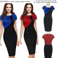 Jual Dress pesta bodycon mini merah,biru katun murah import cina,korea Murah