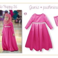 baju muslim anak branded LNICE PINK FUTSHIA IMPORT 5 6 7 8 9 AGD3241