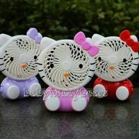 Jual Kipas angin Lampu USB/Mini fan portable Hello Kitty rechargeable Murah