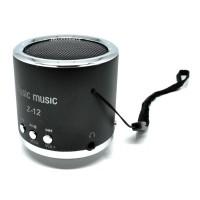 Speaker Mini Super Bass Micro SD USB FM Radio - Z-12 - Black