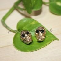 Skull Metal Beads (GOLD) BAHAN AKSESORIS GELANG KALUNG