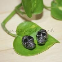 Skull Metal Beads (BLACK) BAHAN AKSESORIS GELANG KALUNG