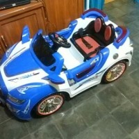 mainan mobil aki PMB 3188 2 gearbox dinamo biru