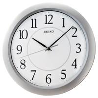 SEIKO CLOCK QXA352 Silver Quiet Sweep Second Hand Jam dinding ORIGINAL