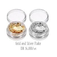 Gold Silver Flake Nail Art Decorations
