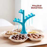 Piring Buah Bentuk Pohon (Dilengkapi 6 pcs tusuk buah)