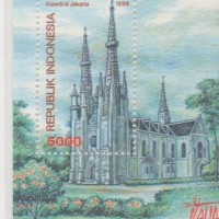 Souvenir sheet Katedral Jakarta 1998