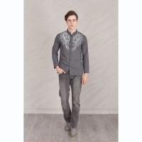 Jual JEHFashion Baju Koko Pria tangan panjang Printing - Yusuf Print Murah