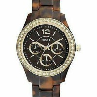 Fossil Stella Crystal Accented Tortoise Watch ES3814