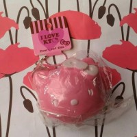 Squishy Murah Hello Kitty Head Bun Pink Rare Squishy Slow Rising