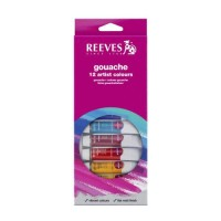 Reeves Gouache 12 Artist Colours