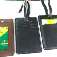 Jual Id card kulit utk koper/Luggage tag 2fungsi Murah