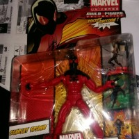 hasbro. marvel legends. scarlet spider. rocket racoon series