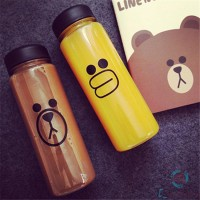 Botol Minum LINE Character 500ml - Brown / Sally + Free Pouch