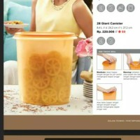 Tupperware Giant Canister Gold
